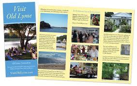 Old Brochures Visit Old Lyme Brochure Brown Bear Creative