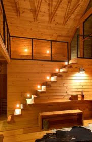 cabin lighting ideas. Cabin Lighting Ideas #1 View In Gallery Lights Along Every Step Of A Cabin/ L
