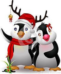 <b>Cute</b> penguin <b>christmas cartoon</b> couple with love | <b>Cute</b> penguins ...