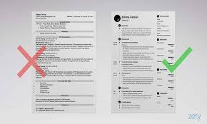 Resume Template Zety Basic Resume Templates 15 Examples To Download