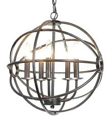 orb chandelier bronze hemispheres 4 light