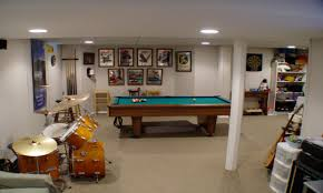 Cool Basement Ideas Top Home Design - Unfinished basement man cave ideas