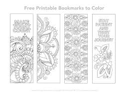 Free Printable Color Your Own Bookmarksl L Duilawyerlosangeles