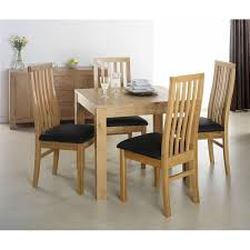 four chairs in dining room. cuba oak square dining table with 4 chairs four in room g