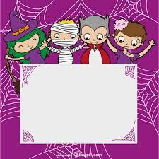 Halloween Template Halloween Template With Kids Vector Free Download