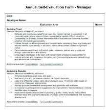 Employee Performance Assessment Examples Employee Performance Evaluation Template Form Templates