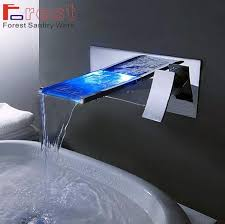 2018 bathroom sink basin faucet wall mounted waterfall mixer tap led waterfall faucet 01 from neomoby 215 38 dhgate com