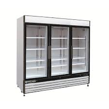 triple door merchandiser refrigerator in white
