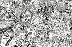 doodle art wallpaper hd doodle with creatures by 1024x677