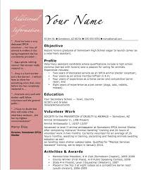 High School Student Resume Template Example Student Resume