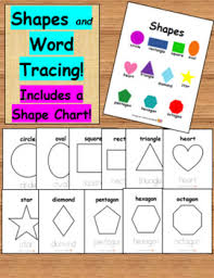 Trace Chart Shapes Posters And Word Tracing Includes Shape Chart