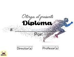 Diplomas Deportivos Para Completar En Linea Fichas Escolares