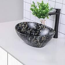 sarlai 16x13 bathroom sink oval shape