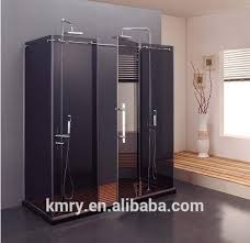 frameless pivot double shower door luxury 5 foot width 3 8 inch glass