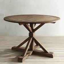 Natural Wood Dining Tables Remington Natural Round Wood Dining Table Pier 1 Imports