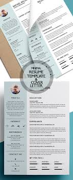Graphic Resumes Templates New Clean Resume Templates With Cover Letter Design Graphic Resume 40