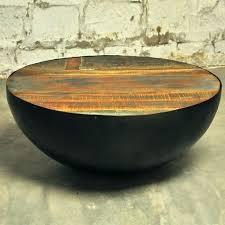 round drum coffee table wood drum coffee table reclaimed wood drum round coffee table a a zoom round drum coffee table