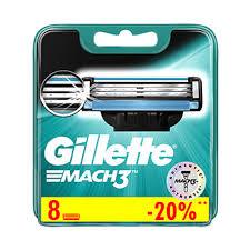 <b>Кассеты для станка</b> Gillette Mach 3 8 шт Польша - купить c ...