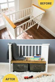 furniture upcycling ideas. Repurposed Crib To Upcycled Bench / Grillo Designs Www.grillo-designs.com Furniture Upcycling Ideas