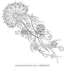 Pattern Coloring Book Coloring Book Pages Stock Vector Royalty Free