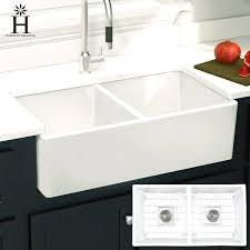 33 farmhouse sink collection double bowl farmhouse sink x x 33 inch farmhouse sink white cast iron
