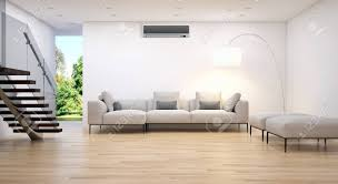 Modern bright living room Peaceful Illustration Modern Bright Living Room With Air Conditioning 3d Rendering Illustration 123rfcom Modern Bright Living Room With Air Conditioning 3d Rendering