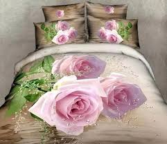 roses bedding pink rose super king size bedding set queen cotton bed sheets fitted duvet purple rose bedding sets