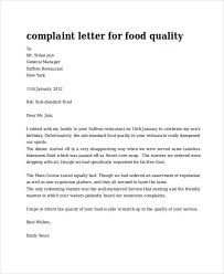 Examples Letter Of Complaints Styleta Org