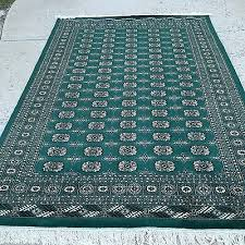6x9 hand knotted oriental rug emerald green 100 wool pile bokhara cotton base