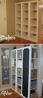 diy furniture makeover ideas. bookshelf command center diy furniture makeover ideas