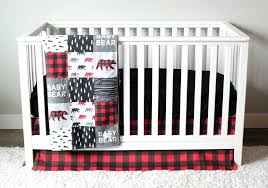 red and black crib bedding baby bear woodlands crib bedding red plaid gray black trees and red and black crib bedding