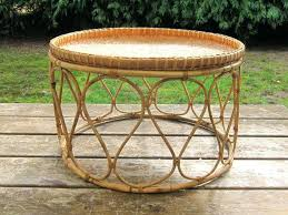 wicker basket end tables vintage cane and wicker basket stool end table accent piece patio furniture wicker basket end tables
