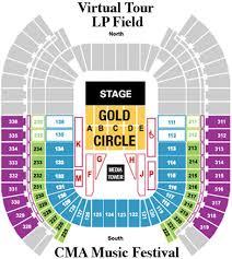 Tennessee Titans Virtual Seating Chart Cma Music Festival Lp Field Virtual Tour Photo Map