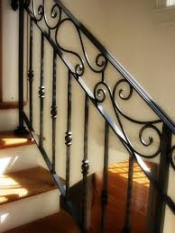 wrought iron railings | Wrought iron railings for indoor staircases is one  way to give your