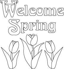 Spring Coloring Pages Welcome Spring Coloringstar