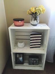 Cheap Nightstands Bedroom Amazing White Wood Cheap Nightstand Ideas With Flower On