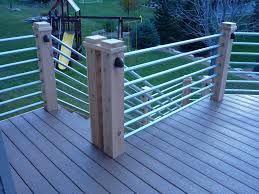 Galvanize Horizontal Deck Railing Ideas Kimberly Porch and Garden