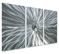 contemporary metal wall art large square bronze abstract sculpture home decor silver waterfall