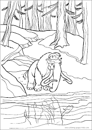 Small Picture Ice Age color page Coloring pages for kids Cartoon characters