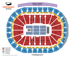 Right Red Wings Seating Chart With Rows Blue Cross Arena