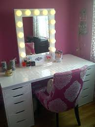 ikea lighting bedroom. Bedroom Makeup Vanity With Lights Ikea Table Square Mirror And Lighting Also Single Ure Modern White High Gloss Finish Wooden Drawers Wood