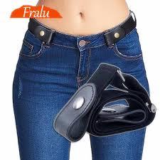 Buckle Free Elastic Belt For Jean Pants Dresses No Buckle