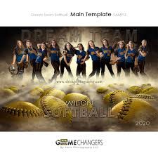 Dream Team Softball Photoshop Template Tutorial Game Changers
