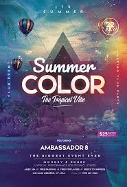 Tropical Vibe Summer Party Free Flyer Template Freebie