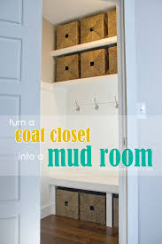 turn a coat closet into the perfect mudroom
