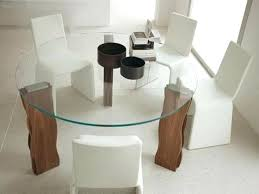 round glass dining table wood base glass modern round dining table glass top dining table with