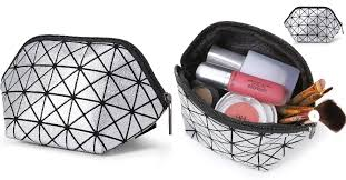 amazon geometric design cosmetic bag makeup bag carry on storage bag 3 99 11 39