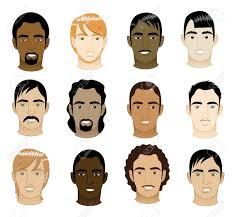12 の異なるメンズ顔のベクトル イラスト ロイヤリティフリークリップ