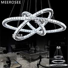 led crystal ring chandelier pendant light modern led circle chandelier lamp lights light fixture ready stock art deco chandelier red chandelier from