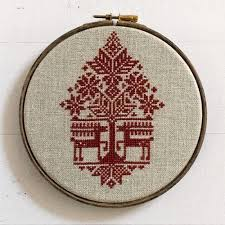 Modern Cross Stitch Patterns Cool Underneath The Christmas Tree Cross Stitch Pattern Stitched Modern